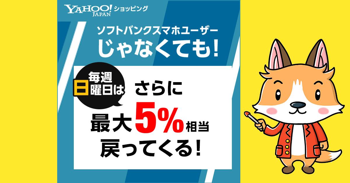 【Yahoo!ショッピング店長が解説】毎週日曜日はさらに最大10%相当戻ってくる!【2020年】